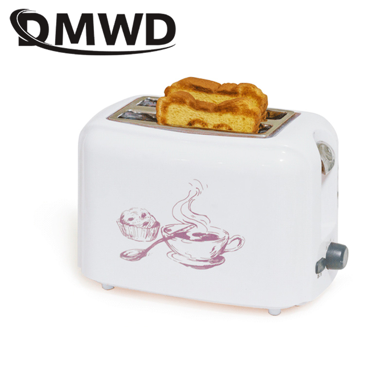 DMWD 750W household Toaster automatic baking bread maker breakfast machine Mini Toaster oven with Defrost&Cancel&Reheat Function Тостер