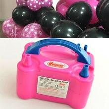 Bomba infladora de balão elétrica, compressor de ar portátil, buraco duplo, 220v ac, bomba de ar, balão elétrico, inflador de balão