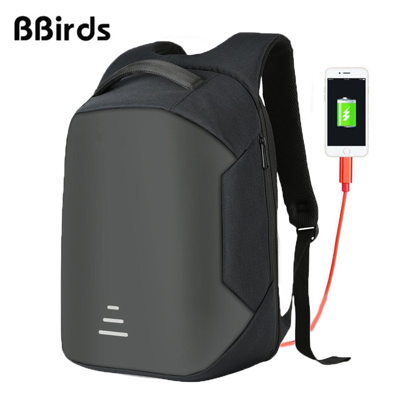 BBirds 15.6 inch Laptop Backpacks Waterproof Men's Backpack Notebook USB Anti Theft Backpack Rugtas Modernist Max ii Upgraded