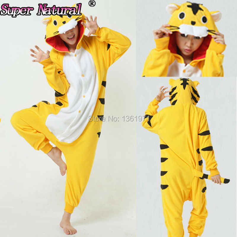 375be42f5 ... HKSNG Women Girls Adult Winter Yellow White Tiger Kigurumi Pajamas  Onesie Hoodie Pyjamas Cosplay For Party