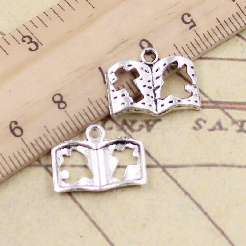 20 X Metal Plata Tibetana Estrella Doble charms//pendants-Antiguo Plata
