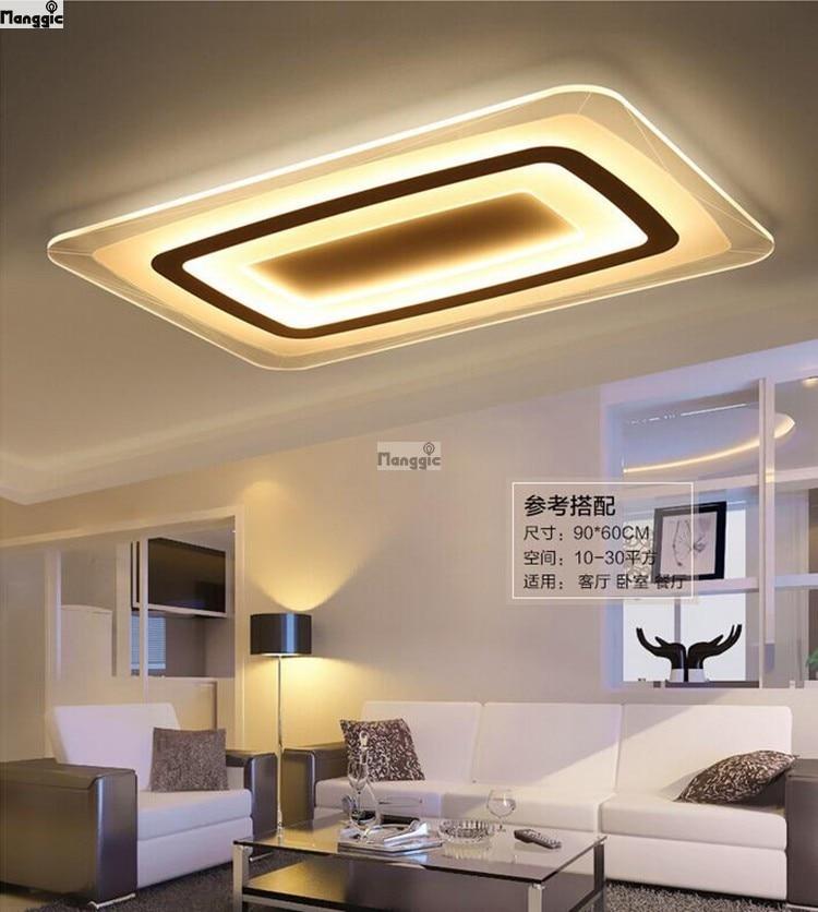 Ultradunne acryl moderne plafond beleuchtung voor woonkamer ...