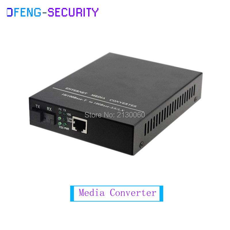 Media Converter 10/100M,Single Mode Single Fiber,1310/1550nm,distance 0-20KM,SC Port Built-in Power Supply