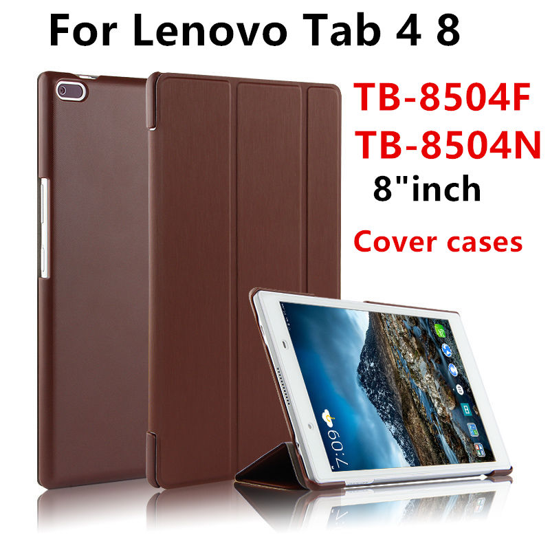 PU Leather Cover Stand Case For Lenovo Tab4 Tab 4 8 TB-8504x TB-8504F 8