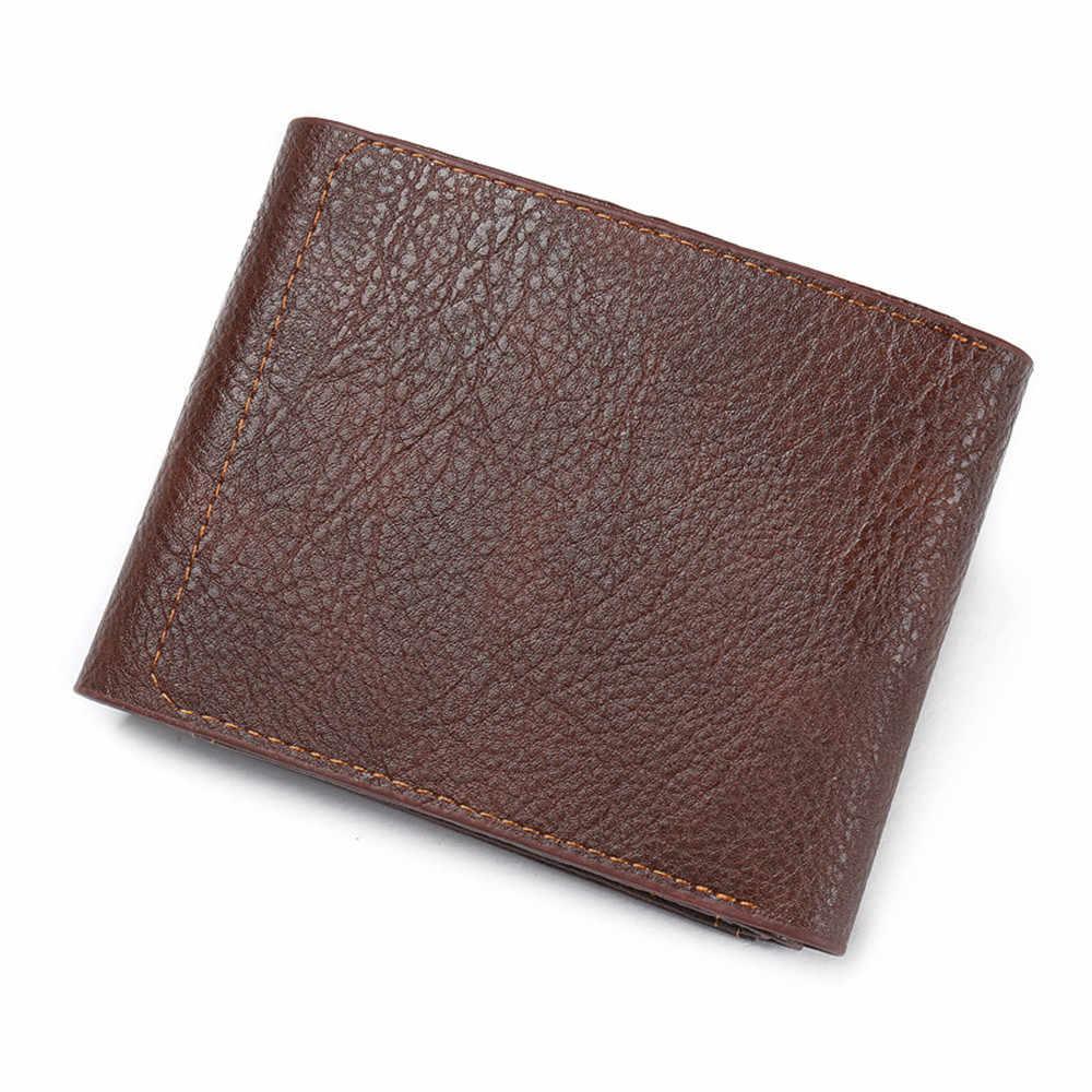 Маленькие короткие мужские кошельки люксовый бренд удобный портфель дизайнерский мужской клатч кошельки денежная сумка Walet Cuzdan Portomonee Карманный валлет