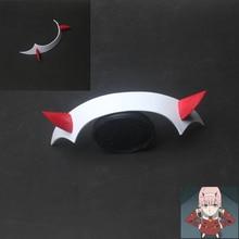 DARLING in the FRANXX Zero Two Cosplay Prop Headwear PVC Horn Headband Hairband