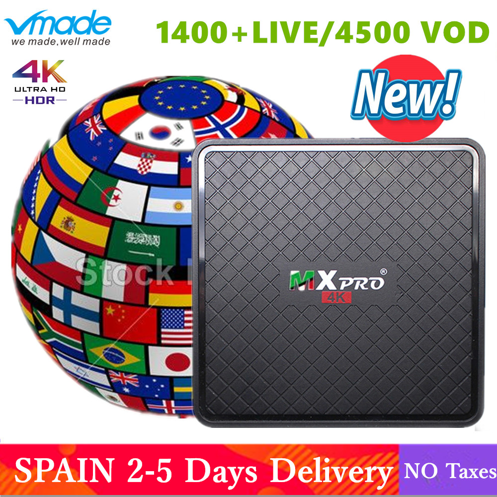 V96S mini Android 7.0 espagne IP TV Box Quad Core TV Europe décodeur avec 1 an IPTV belgique néerlandais UK arabe IP TV Top Box