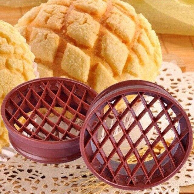 Kisi Tekan Nanas Cetakan Kue Dekorasi Alat Dish Bun Roti Cutter Peralatan Dapur Bakeware Pastry
