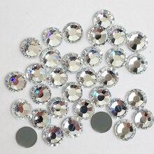 Best Quality DMC Stones Clear Crystal Iron on Strass SS4 to SS50 Hotfix Rhinestones DIY Wedding Dress