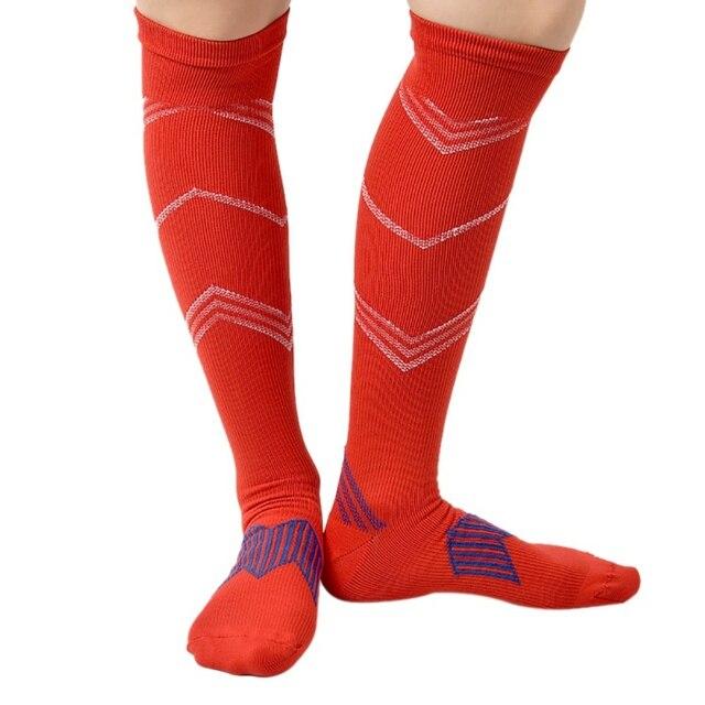 7a3f68b8b 1pair Men Women Leg Support Stretch Compression Socks Below Knee Socks gray  red blue yellow black sock