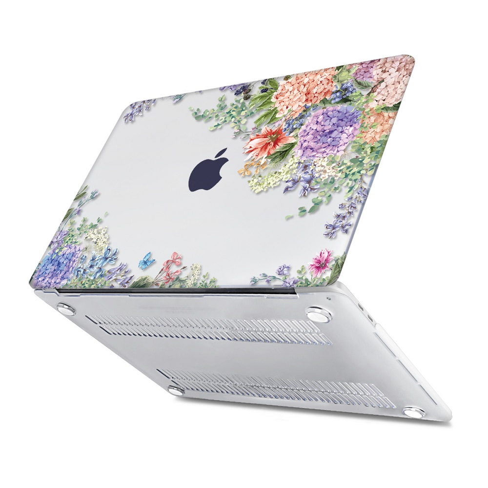 Floral Printing Hard Case for MacBook 139