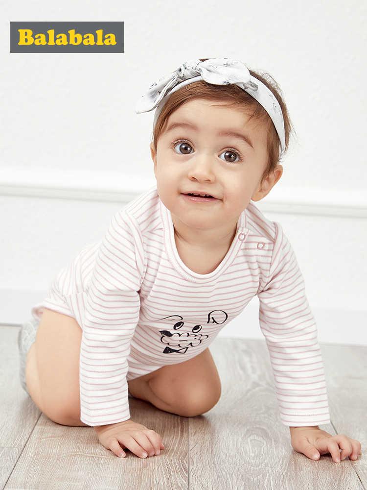 Balabala детская одежда, боди-комбинезон в виде костюма Новорожденные весенние хлопковые мягкие Круглая горловина комбинезон для младенцев, наряд От 0 до 1 года Фарт