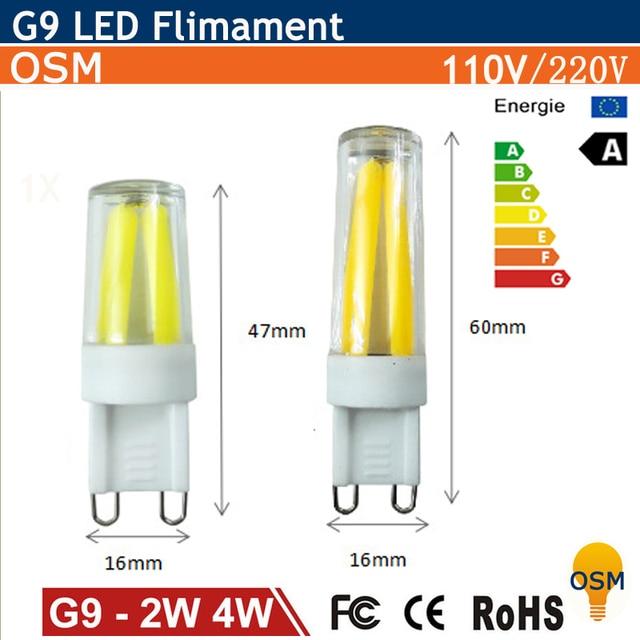 Mini dimmable g9 led lamp 2w 4w 110v 220v lampada led - Bombillas g9 led ...