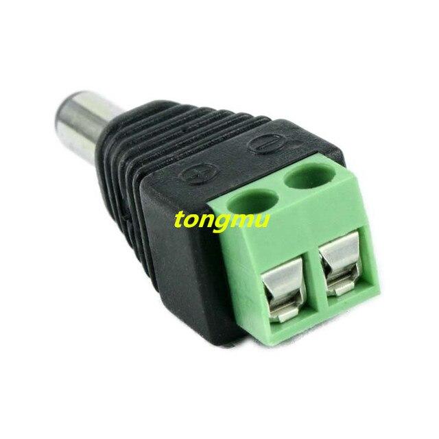 50pcs Female + Male Mark Polarity DC Power Plug Adapter Connector ...