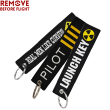 Remove Before Flight Keychain Stickers llaveros Key Chains Embroidery Car rings for Car-styling Chaveiro Para Moto 3 PCS/LoT