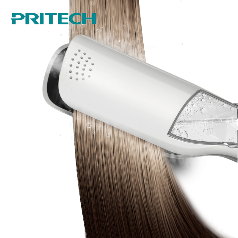 PRITECH Professional Steam Hair Straightener Comb Brush Flat Iron Ceramic Hair Iron Steampod Hair Straightener Styling Tools hair straightener iron hair flat iron professional steampod hair straightener electric steam dry wet hair