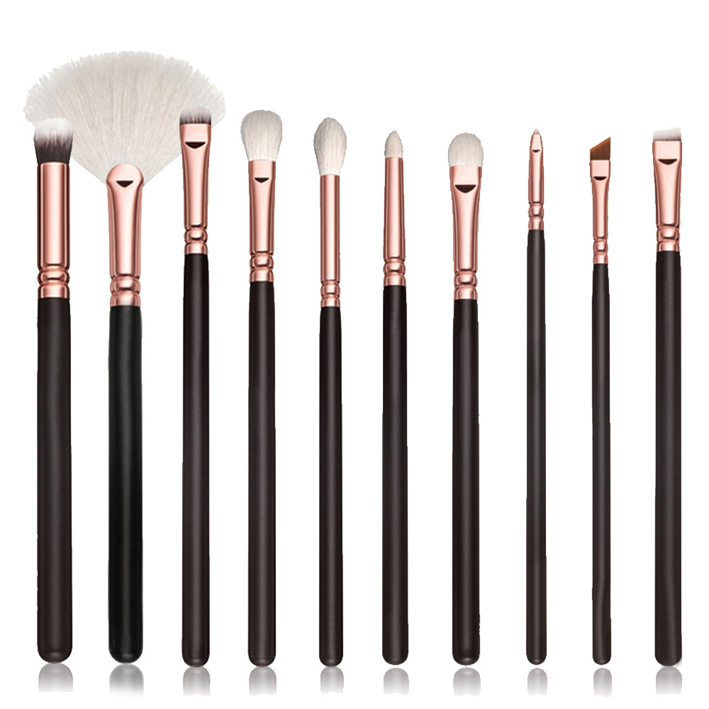 10Pcs Cosmetic Foundation Makeup Brush Sets Kits Tools Professional Powder Eyeshadow Eyebrow brush cleaner Blush Face Make up daily life eyebrow extension kits making up tools for eyebrow