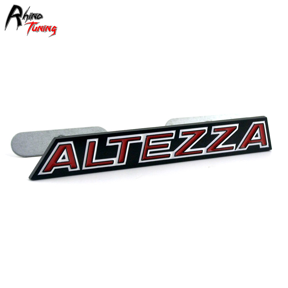 Rhino Tuning Car Styling ALTEZZA Grille Emblem For AS200 AS300 RS200 1998 Auto Front Badge 20828 rhino tuning 5pcs autobiography ultimate edition aluminum sticker badge emblem car auto styling fit defender range 108