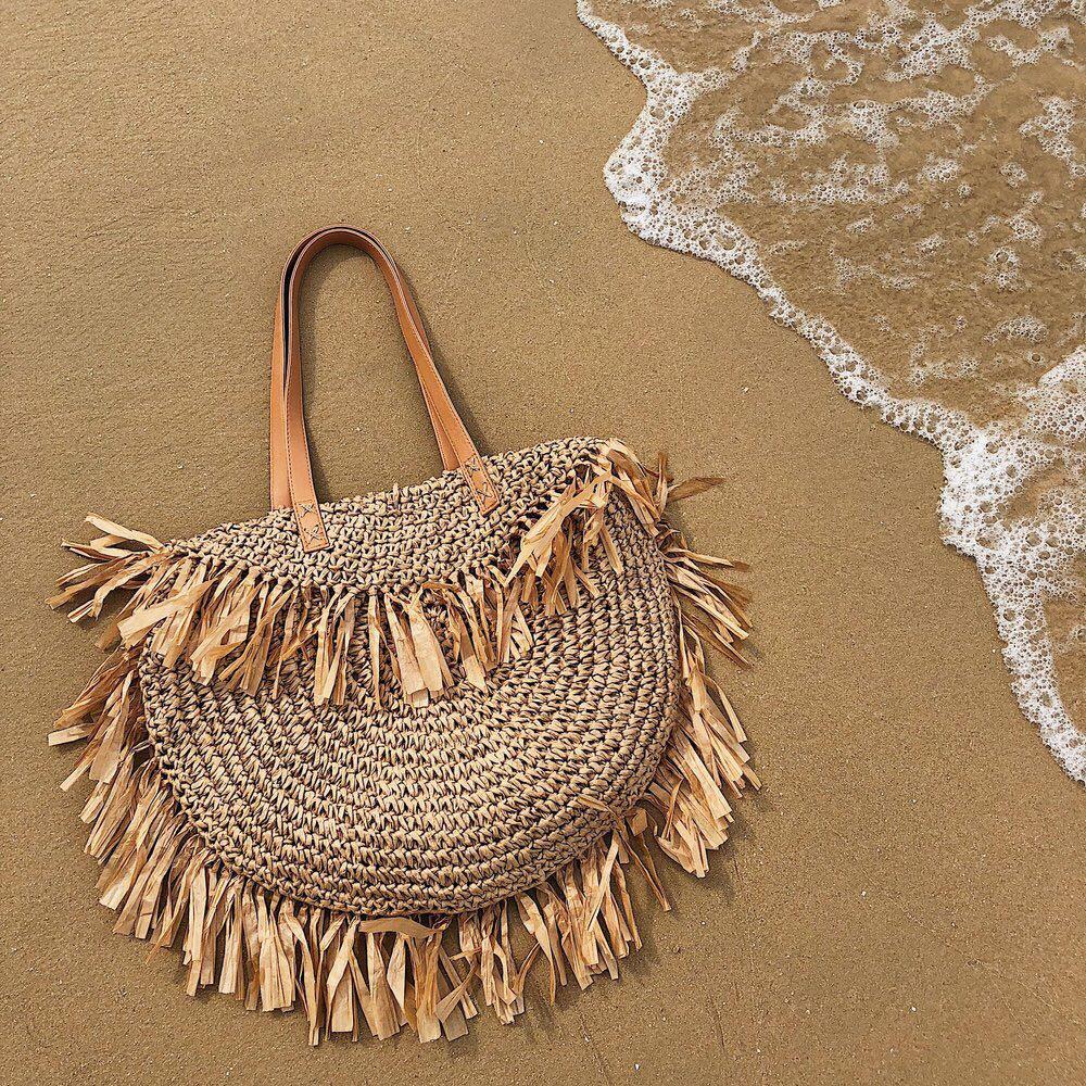 Beautiful Straw Round Bag for Women 2021