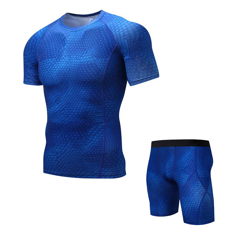 thermal underwear for men 2 piece tracksuit men crossfit shorts MMA tactical compression clothing Free delivery