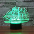 2017 Creative 7 Colors Amazing Optical Illusion Scenery Series 3D Optical Illusion Desk Table Lamp Boat Night Light Sailboat