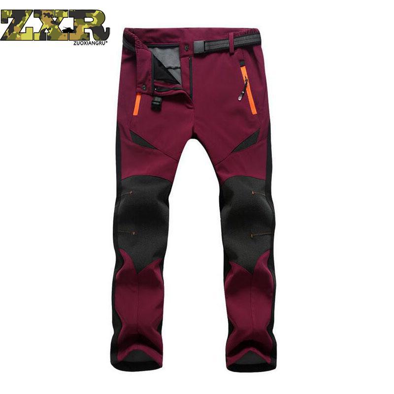 New Winter Men Women Hiking Pants Outdoor Softshell Fleece Trousers Waterproof Windproof Thermal For Camping Ski Fish Climbing цена