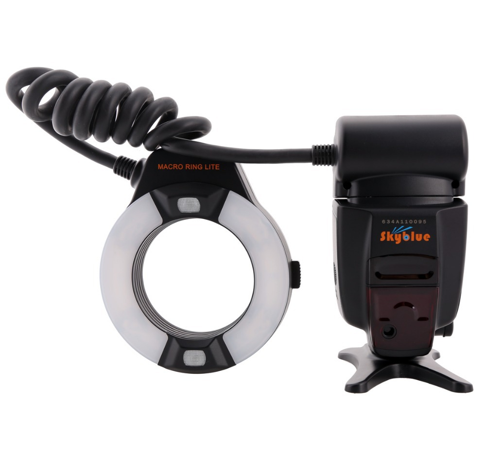 Meike MK-14EXT MK-14EXT-C E-TTL Macro LED Ring Flash Speedlite with LED AF Assist Lamp for Canon EOS DSLR Camera meike mk 580 flash speedlight for canon eos slr camera 4 x aa