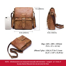 Briefcases Male Genuine Leather Men Bag
