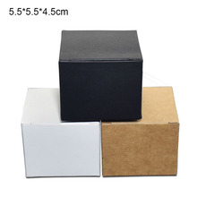 50pcs/lot Foldable Kraft Paper Face Cream Bottle Box Jewelry Packing Paperboard Carton Ointment Package 5.5x5.5x4.5cm
