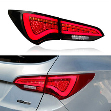 For Hyundai Santa Fe IX45 2014 2015 2016 2017 Car Styling Rear Tail Light Assembly Plug&Play led DRL+Brake+Reverse+Turn Signal for hyundai santa fe ix45 2016 2017 sncn multi function car led rear bumper light auto brake light turn signal light reflector