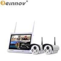 EINNOV 1pcs 2pcs 4CH CCTV System Wireless 1080P NVR 2 0MP IR Outdoor P2P Wifi IP