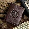 Jmd envío gratis tarjeta de bolsillo monedero del hombre de cuero billetero # 8017-2C