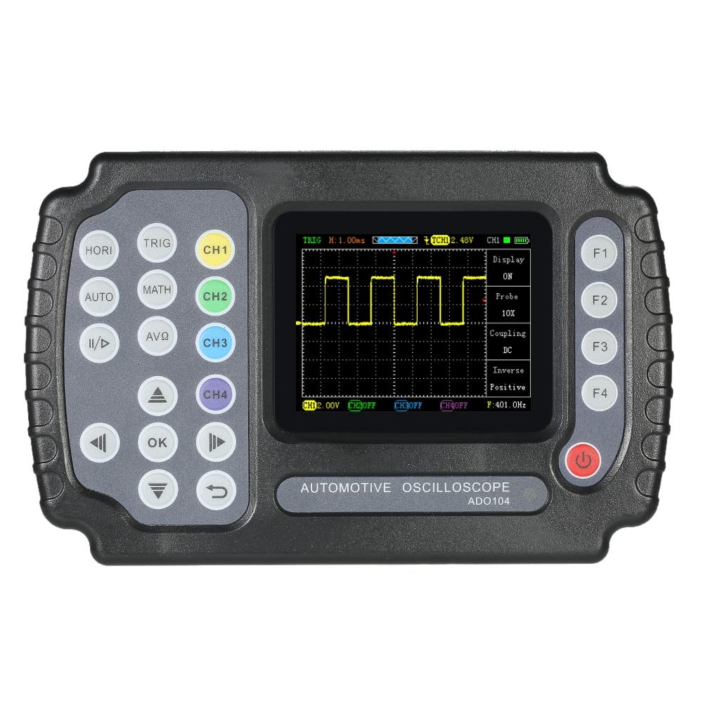 ADO102 Handheld Oscilloscope 100 MSa/s Digital Multimeter Oscilloscope Dual-Channels Car Repair Automotive Oscilloscope