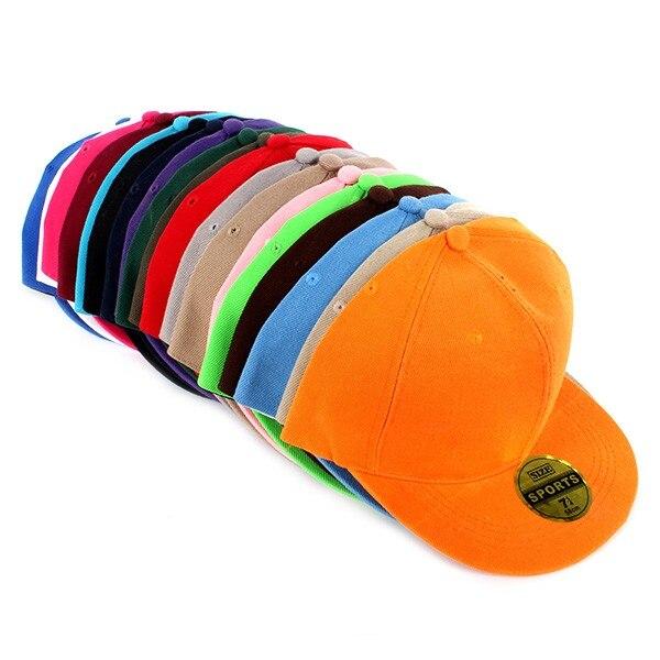 Men Women Hat Adjustable   Baseball     Cap   Solid Hip-Hop Snapback Flat Hat Visor