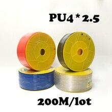 PU4*2.5 200M/lot  Pneumatic parts 4mm PU Pipe for air pneumatic hose 4*2.5 Compressor