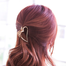 fashion Women Metal Hair Clip Heart Shape Hair Claw clip Ponytail Holder girls Elegant Hairpins Hair Styling Tools Crab Claw claw hair clip 6pcs
