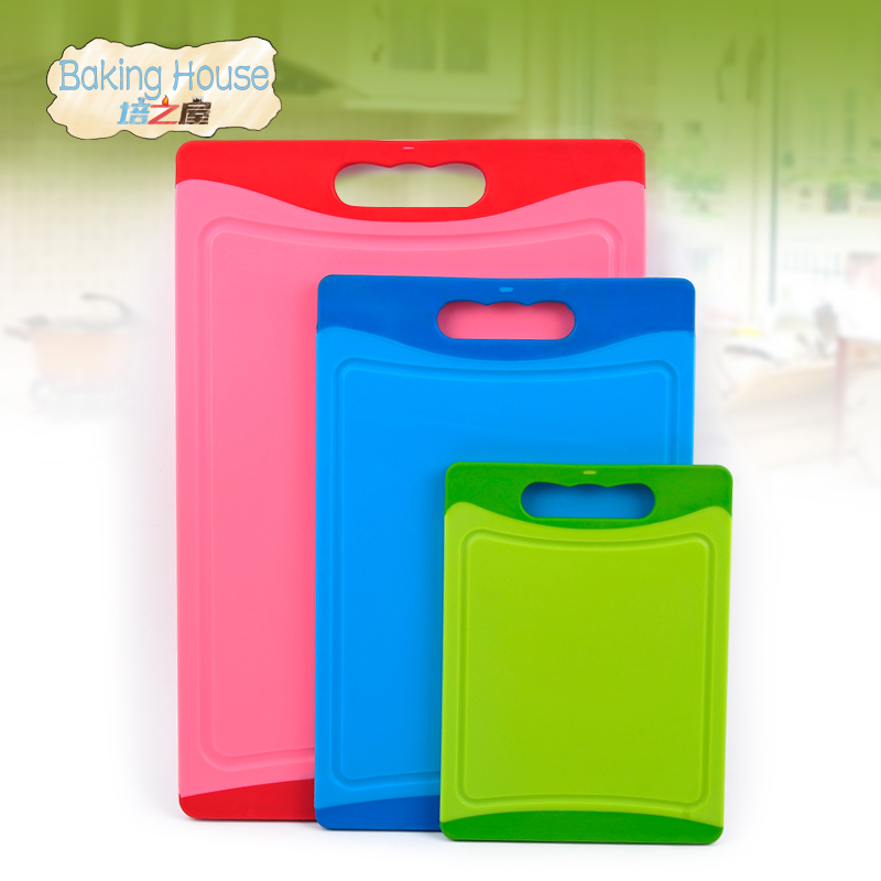 3PCS Cutting Board Non Slip Plastic Kitchen Cutting Chopping Board Blocks double side angle cutting surface