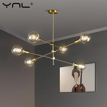 Скандинавские современные подвесные светильники с длинным полюсом, дизайнерские педантные лампы, потолочные художественные украшения, По...