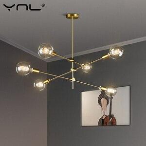 Image 1 - Luster led estilo nórdico, luminária moderna, hastes longas, lâmpadas pendentes de teto, arte para decoração, para bar, sala de jantar, cozinha, sala de estar