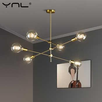 Nórdicos Luces colgantes modernas palo largo de lámparas colgantes de techo decoración de arte colgando de la barra de la lámpara comedor-cocina en la habitación
