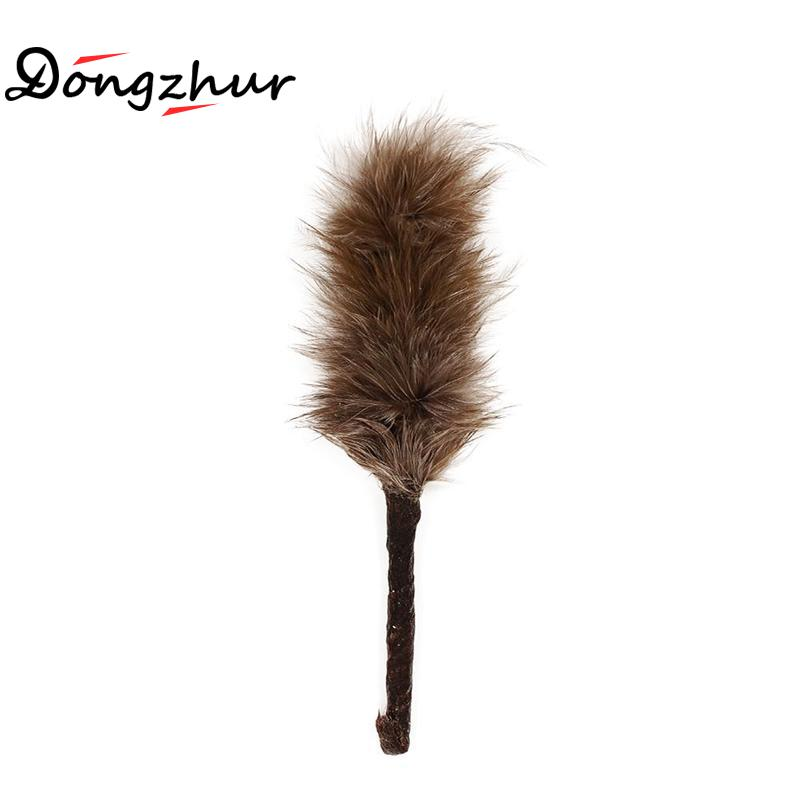 Dollhouse Miniature 1:12 Toy Living Room Feather Duster Length 5.5cm Gray SPO412