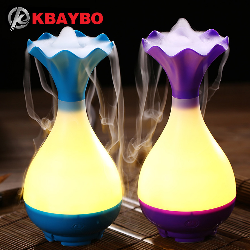 USB Air Humidifier Ultralyd Aromaterapi Essential Oil Aroma Diffuser med LED Night Light Mist Purifier forstøver for Home