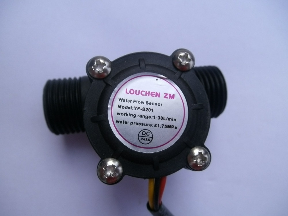 2 pcs G1/2″ Water Flow Hall Sensor Switch Flow Meter Flowmeter Counter 1-30L/min