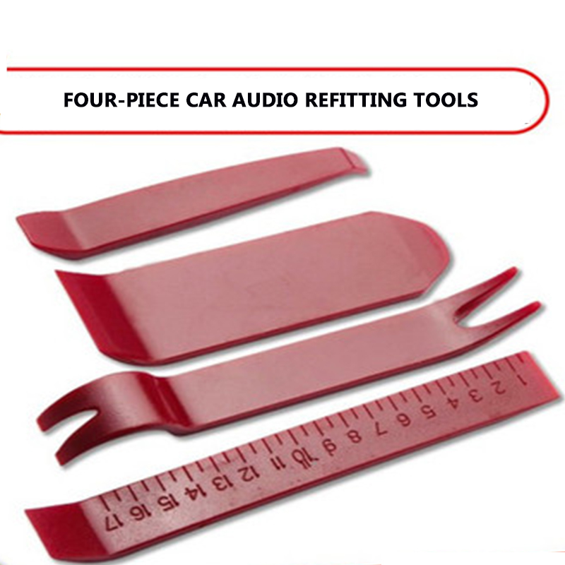 Four Kits Of Tools Auto Interior Kit Audio Disassembly Decoration Panel Instrument Panel Auto Manual Decoration Disassembly Tool