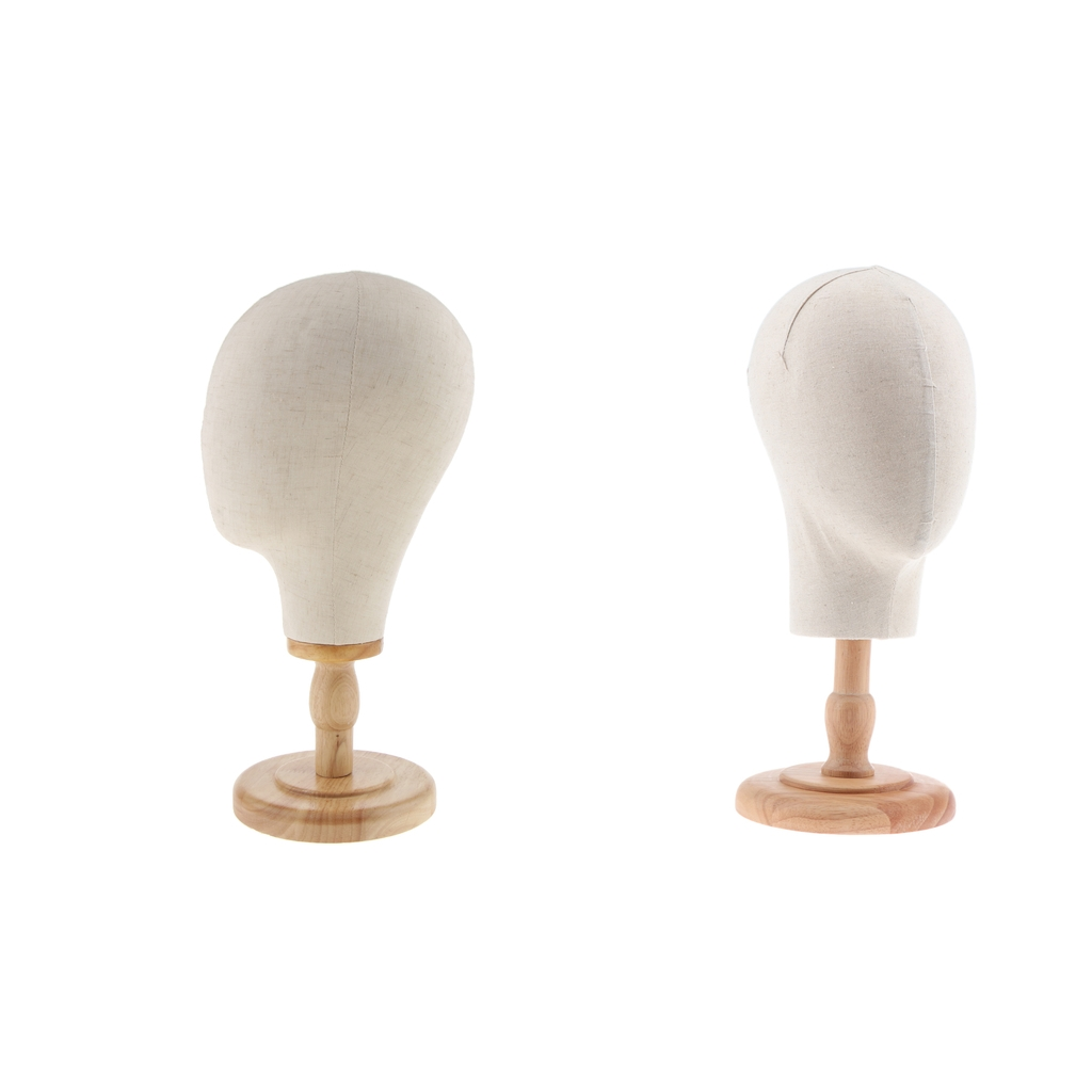 2pcs Canvas Mannequin Head Wig Hat Making Glasses Display Holder with Stand new 2pcs female right left vivid foot mannequin jewerly display model art sketch