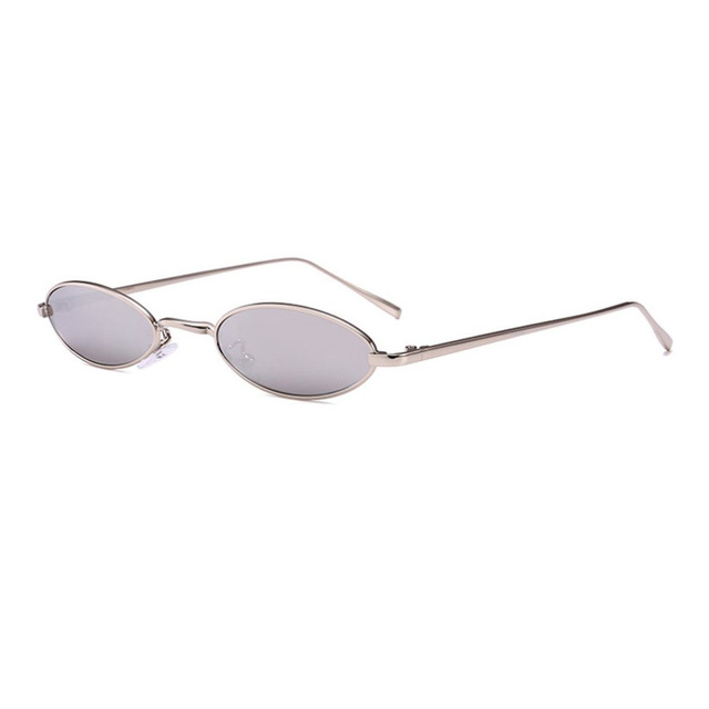 94c08021e9 2018 New Summer Trendy DesignSunglasses Women Men Small Oval Fashion Unisex  Metal Frame UV Protective Eyewear Glasses culos de