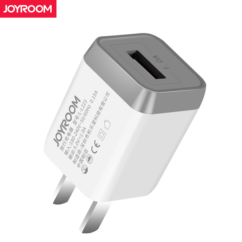 Joyroom Mini Cell Phone Travel Charger USB Wall Charge Power Adapter for iPhone Huawei Samsung Android Micro USB Charger US Plug