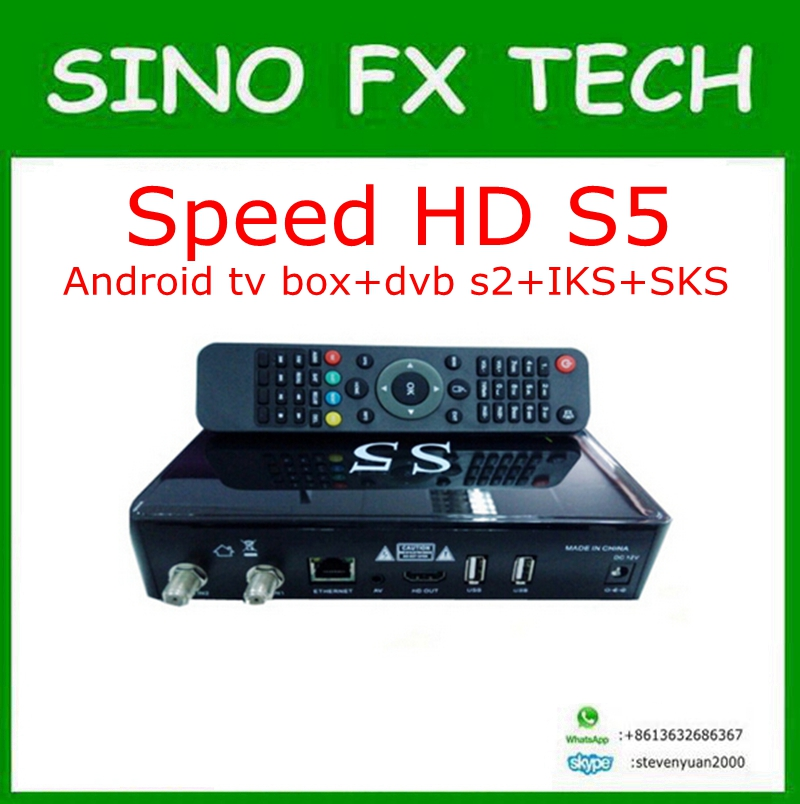 speed hd s5 Amlogic S805 android satellite sks iks permanent free for south america nagra 3