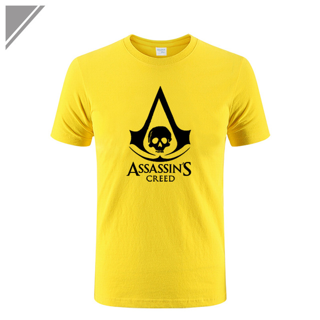 Summer New Anime Game Assassin's Creed 3 III Printed T Shirt Assassins Creed Tee Shirts Short Sleeve Gamer T-Shirt Men Plus Size