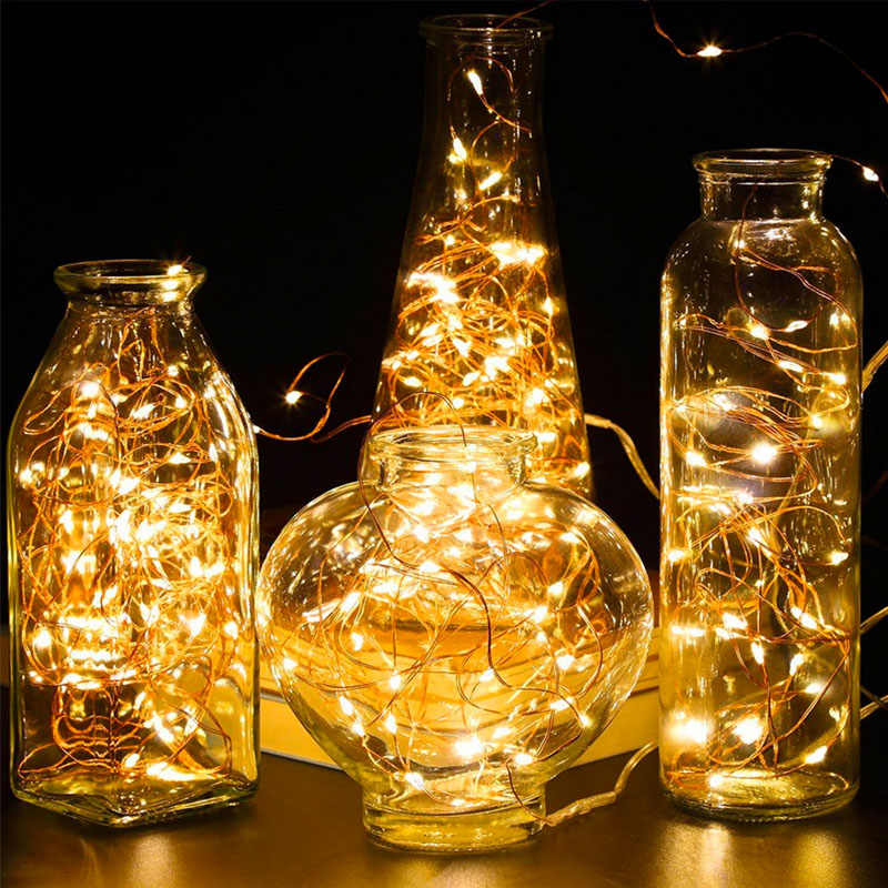 5/10M Waterproof Remote Control Fairy Garland Lights Battery LED Light 8 Mode Timer Copper wire Lighting Strings Indoor Home